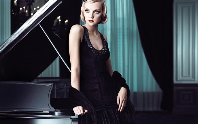 Платье из норки Black NAFA