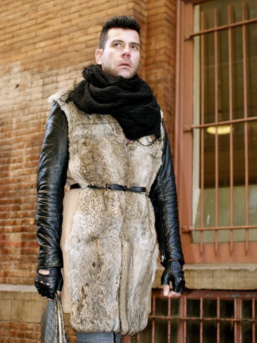 Jeff Blouin Belts the Fur Vest