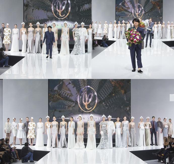 Коллекция от Валентина Юдашкина на Неделе Моды в Москве